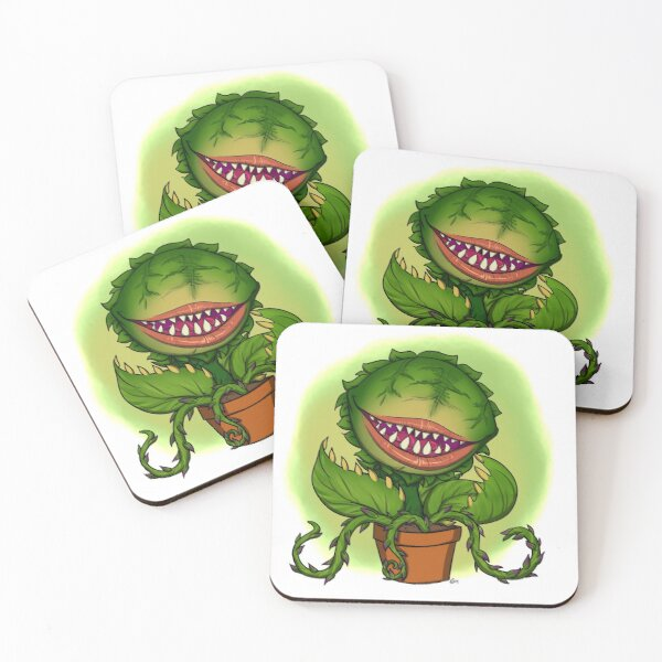 Mean Green Mother From Outer Space Coasters (Set of 4)