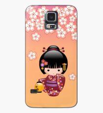 Japanese Sakura Kokeshi Doll Case/Skin for Samsung Galaxy