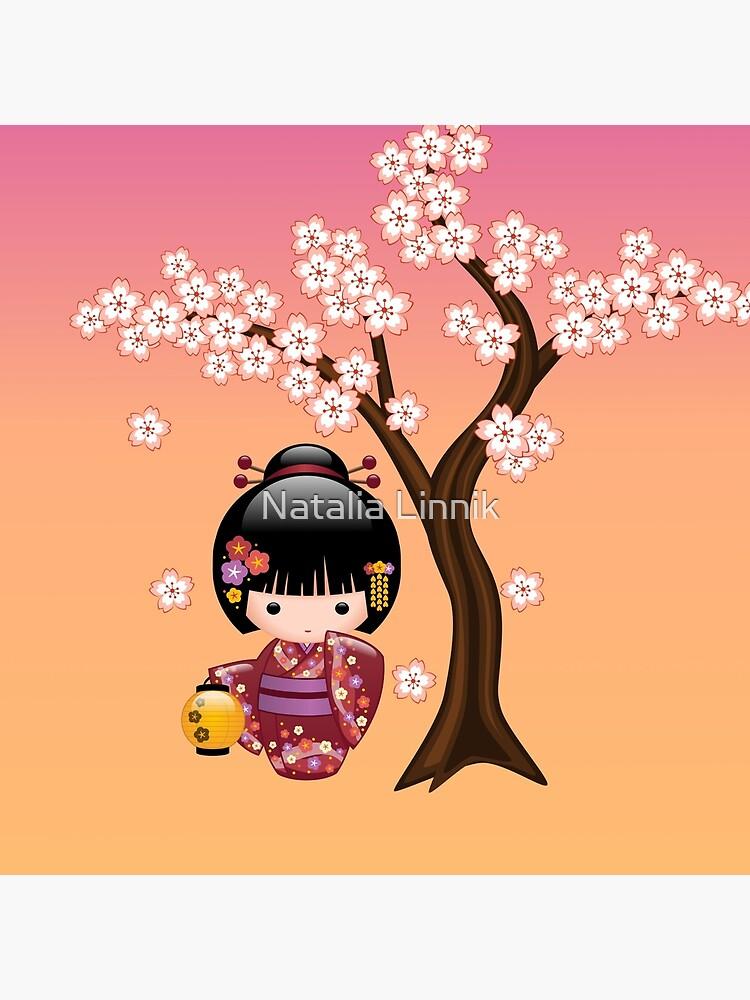 Muñeca japonesa Sakura Kokeshi de chibibikun