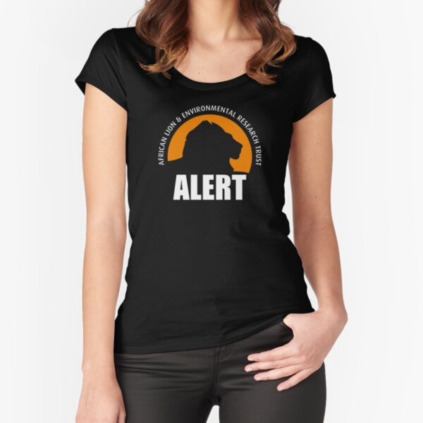 ALERT Logo (White) Fitted Scoop T-Shirt