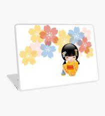 Japanese Summer Kokeshi Doll Laptop Skin