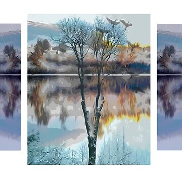 Triptych Two season's tree 25 002 22 10 17 by algirdasdesign