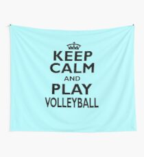 Volleyball Player Keep Calm Birthday Wall Tapestry