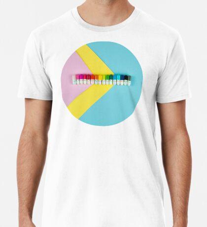 Glückliche kleine Regenbogenpillen Premium T-Shirt