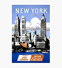 Vintage New York Travel Poster Photographic Print