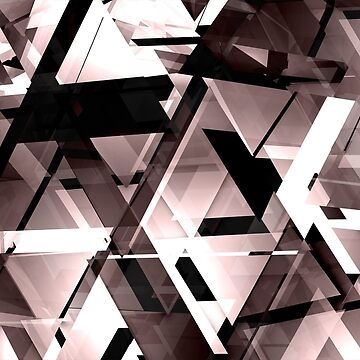 Urban Abstraction - Glassy Geometry by tee-fury