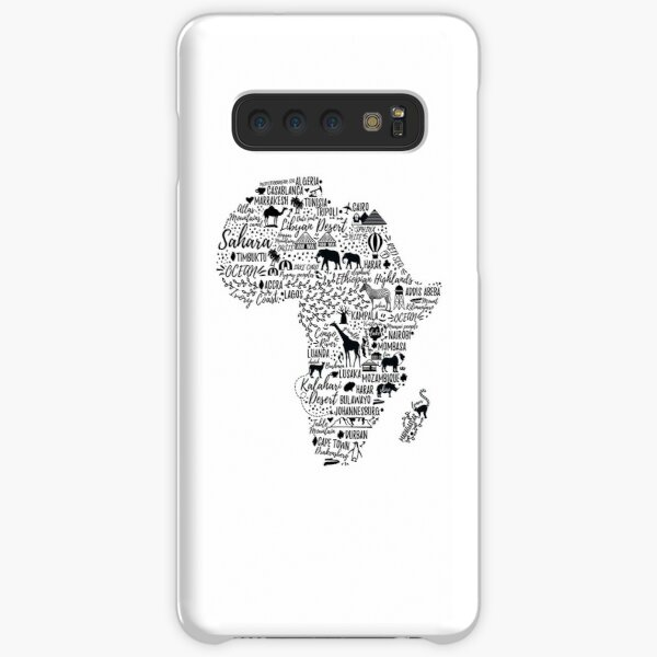 Typography poster. Africa map.  Samsung Galaxy Snap Case