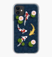 Japanischer Koi Fischteich iPhone-Hülle & Cover