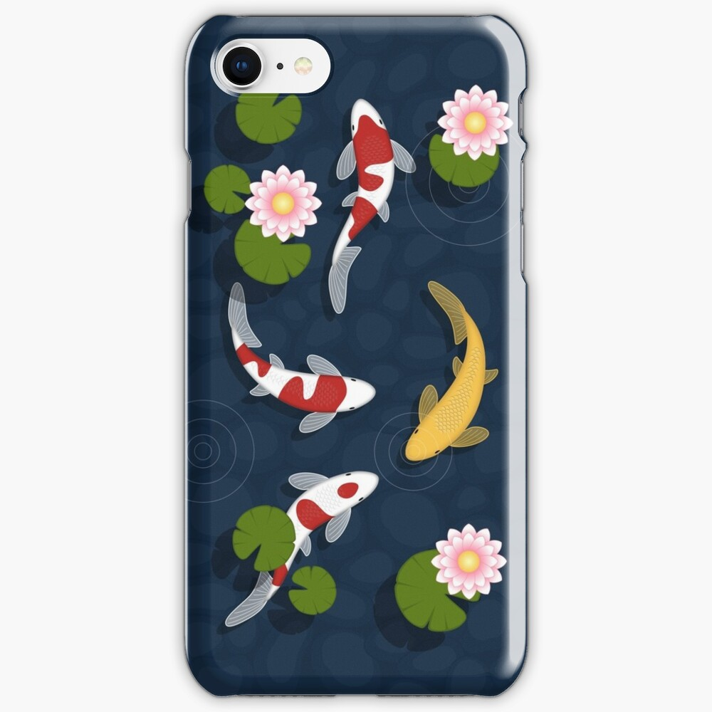 Japanese Koi Fish Pond iPhone Case & Cover