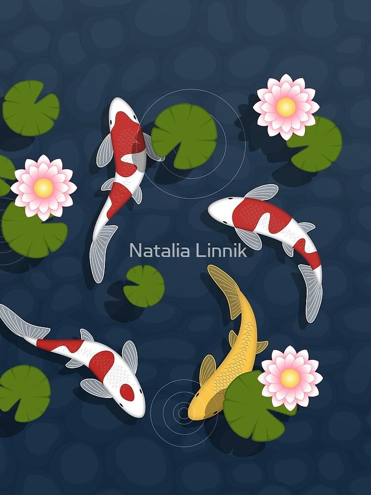 Japanese Koi Fish Pond by chibibikun