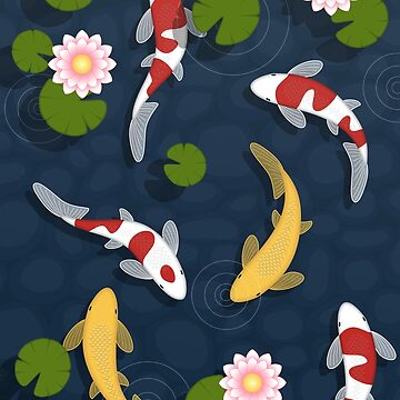 Japanese Koi Fish Pond by chibibikun