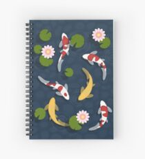 Japanese Koi Fish Pond Spiral Notebook
