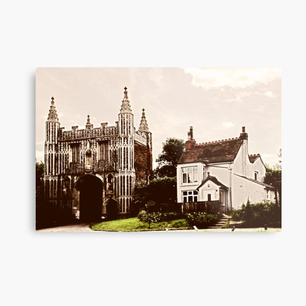 Old Postcard style photograph of Abbeygate, Colchester Metal Print