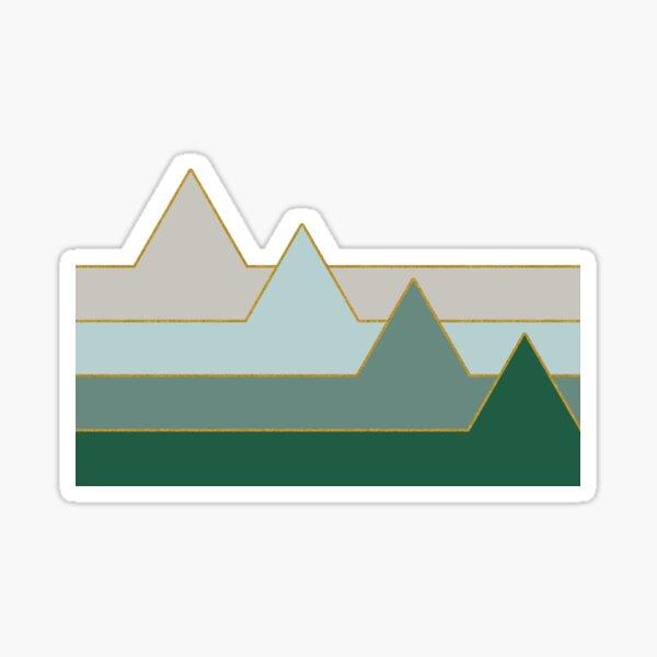 Green Mountains #redbubble #decor #buyart Sticker