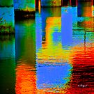 What am I? and Were is it? solved both quetions..under the bridge, lights reflection from the lights under it..  by Nancy Stafford