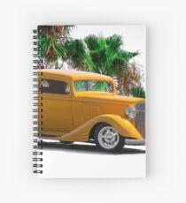 1933 Pontiac Deluxe 8 Touring Sedan III Spiral Notebook