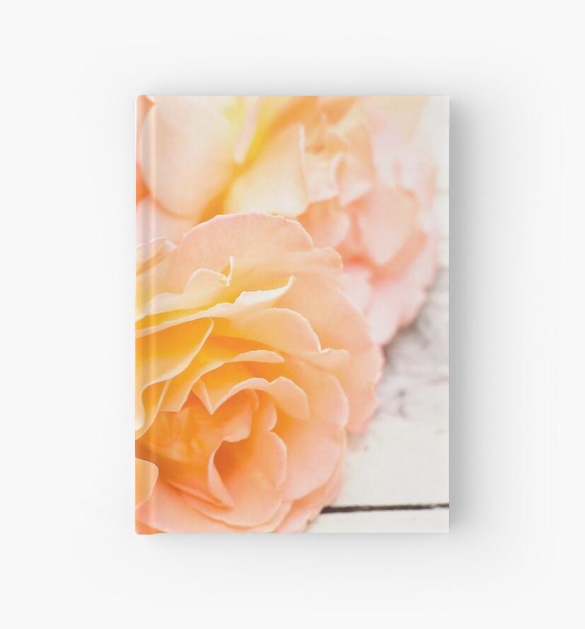 Peach Roses Vintage by vickylewisphoto