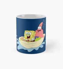 Spongebob and Patrick Riding a Shell Mug