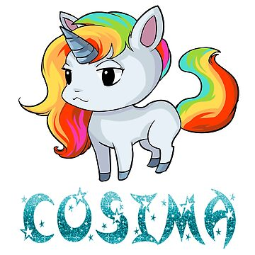 Cosima Unicorn Sticker by Bestseller-hot