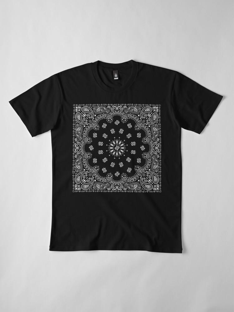 Alternate view of Bandana Black Premium T-Shirt
