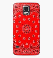 Red Bandana Case/Skin for Samsung Galaxy