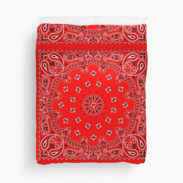Red Bandana Duvet Cover