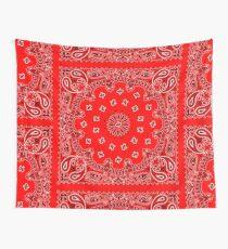 Red Bandana Wall Tapestry