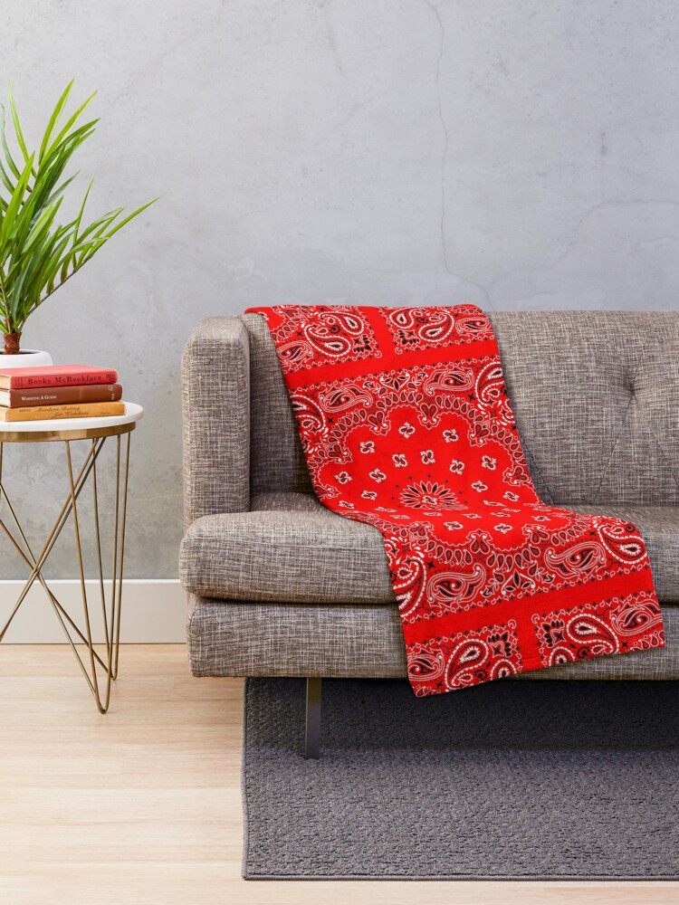 Alternate view of Red Bandana Throw Blanket