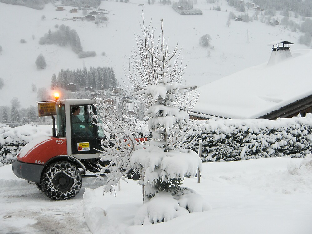 snow plowing by Francesca Rizzo