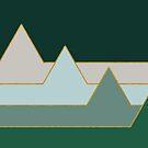 Green Mountains #redbubble #decor #buyart by designdn