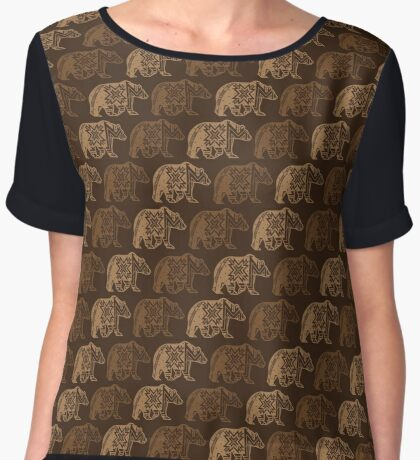 Bear Spirit Women's Chiffon Top