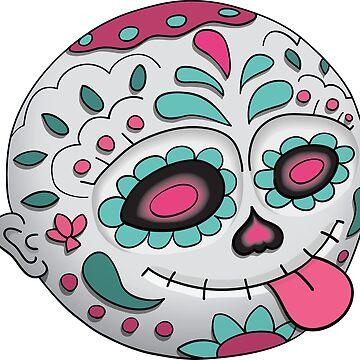 Emoji Tongue. Day of the dead. Dia de Los Muertos. Halloween Illustration by illumylov