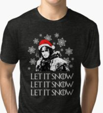 Let it snow - Christmas  Tri-blend T-Shirt