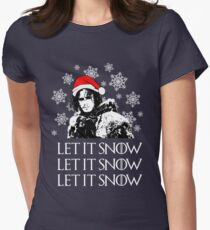 Let it snow - Christmas  Women's Fitted T-Shirt
