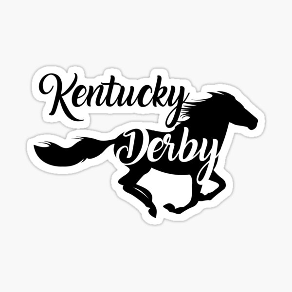 Kentucky Derby the best Running horse Sticker