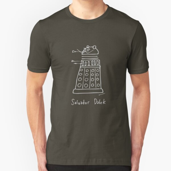 Salvador Dalek - pale grey print for dark t-shirts Slim Fit T-Shirt