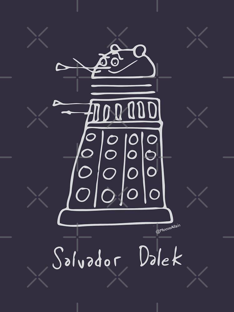 Salvador Dalek - pale grey print for dark t-shirts by worldofmoose