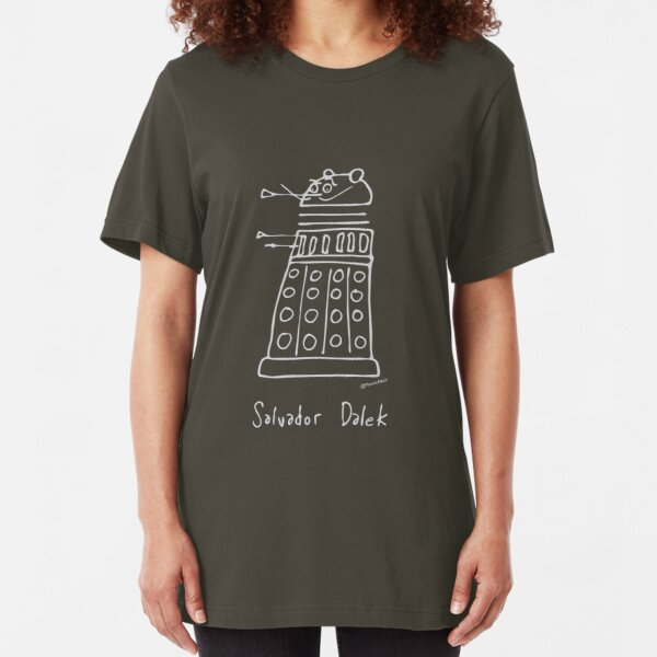 Salvador Dalek - pale grey print for dark t-shirts Slim Fit T-Shirt