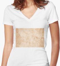 belgie marble Women's Fitted V-Neck T-Shirt