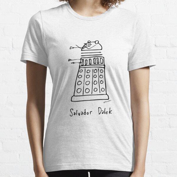 Salvador Dalek - black print version Essential T-Shirt