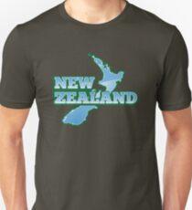 NEW ZEALAND map with NZ T-Shirt