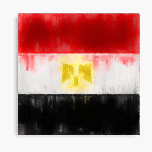Egyptian Flag No. 1, Series 1 Canvas Print