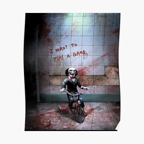 Jigsaw Want To Play A Game Poster