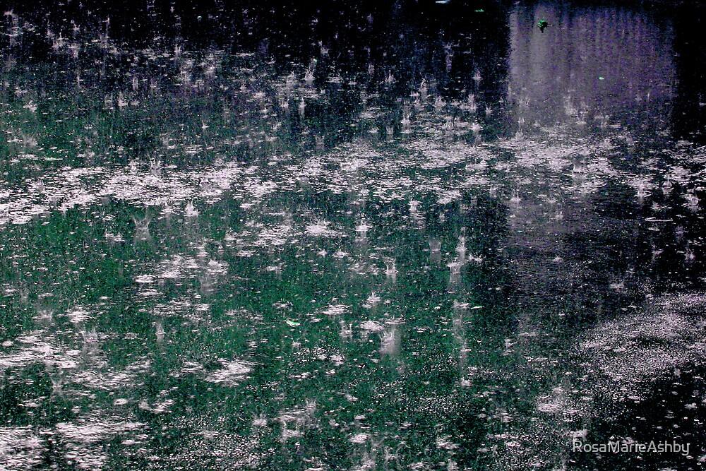 Abstract Raindrops by RosaMarieAshby