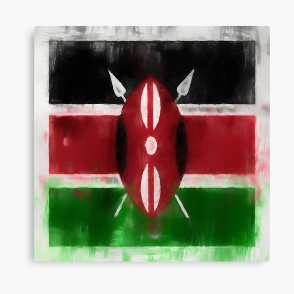 Kenyan Flag No. 2, Series 1 Canvas Print