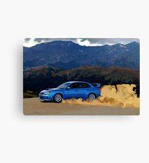 Subaru WRX STi Drifting in the Dirt Canvas Print