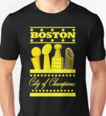 Boston - City of Champions (Gold) Unisex T-Shirt