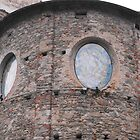 Window s of a little church in Lurisia (northern Italy) by katekreations