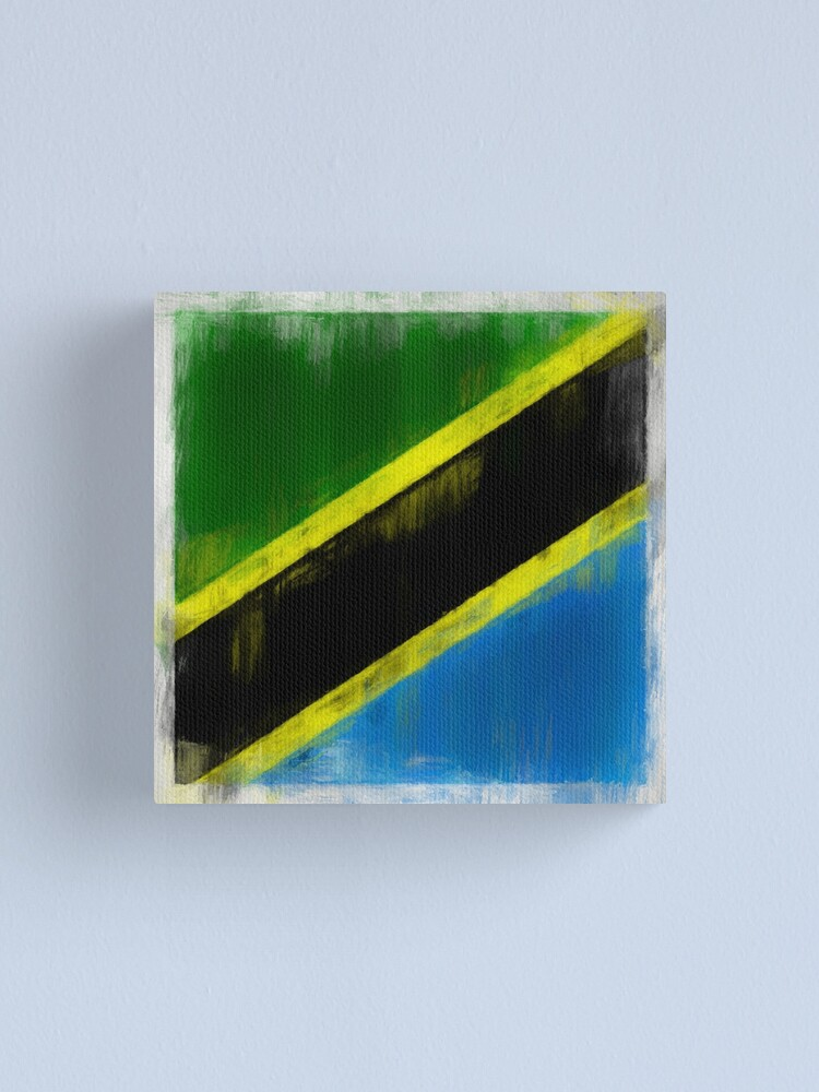 Alternate view of Tanzanian Flag No. 2, Series 2 Canvas Print