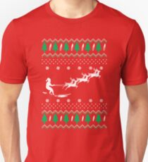 Surfing Christmas ugly T-Shirt